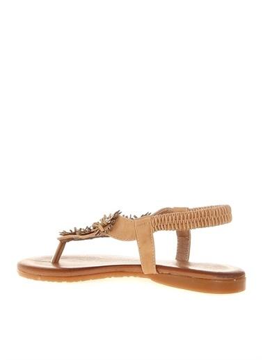Divarese Divarese Kadın Taş Detaylı Bej Sandalet Bej